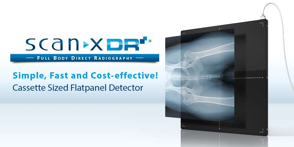 ScanX DR Flatpanel - Full Body Direct Radiography - Simple, Fast and Cost-effective! - Cassette Sized Flatpanel Detector