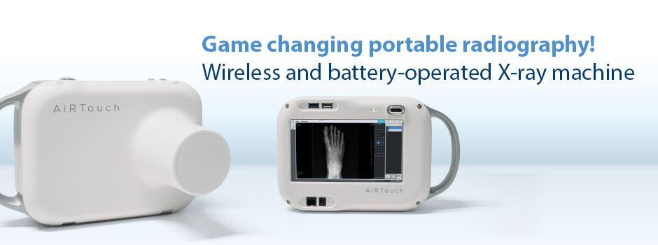 Game changing portable radiography! Wireless and battery-operated X-ray machine.